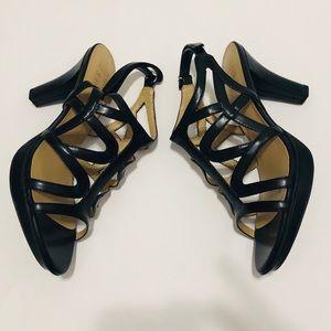 Naturalizer Danya Dress Sandals - Black Size: 8.5W